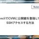 ncli で CVM に公開鍵を登録してSSHアクセスする方法